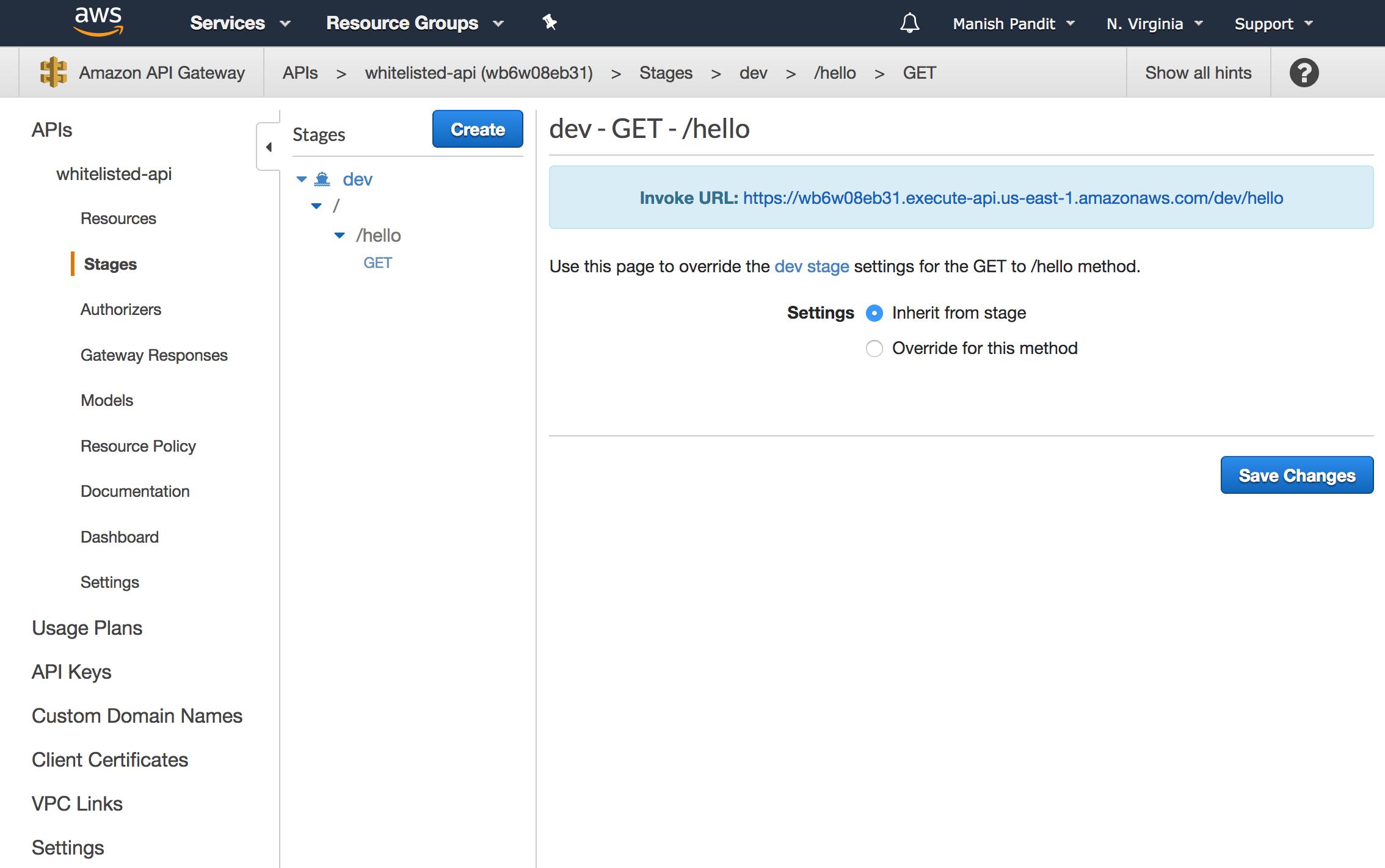 IP Whitelisting with Amazon API Gateway