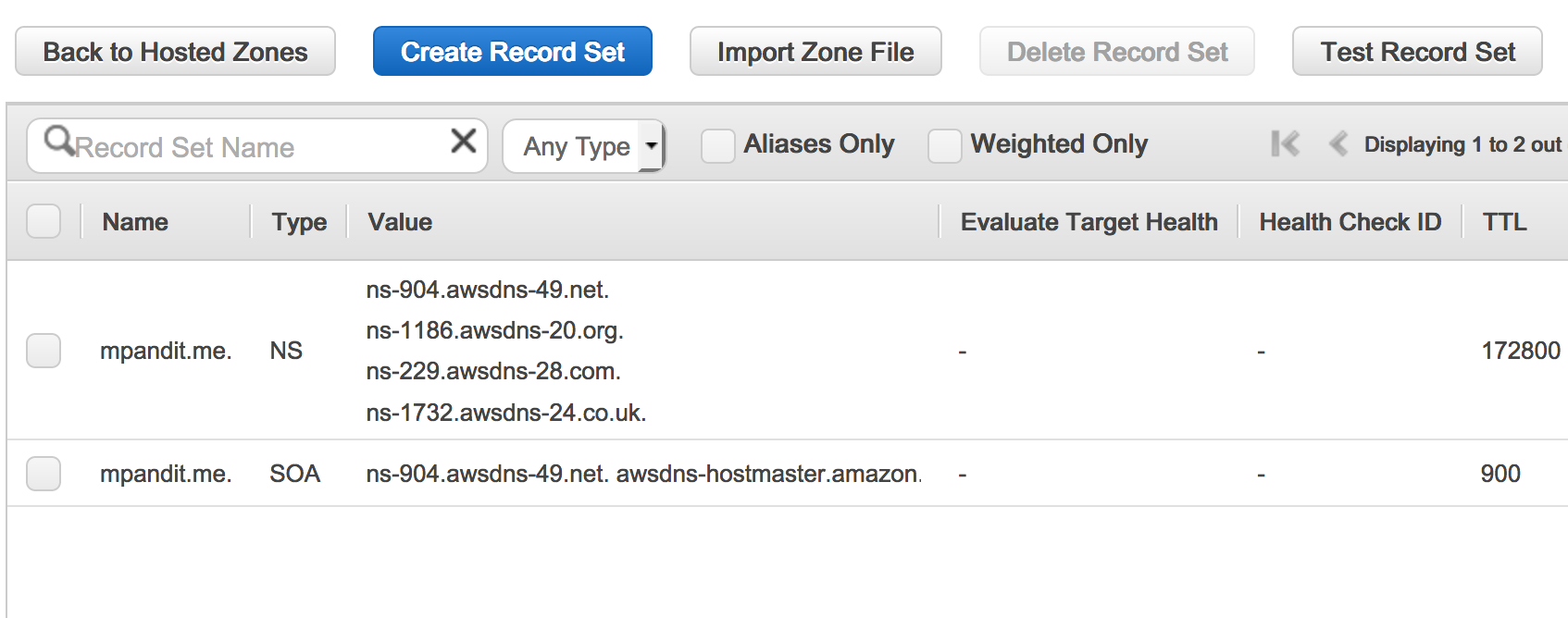 Migrating a Domain to Amazon Route53